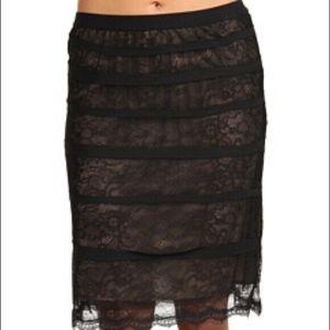 BCBGMaxAzria XS Jocelyn Lace Pencil Skirt